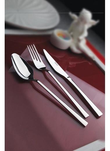 Yetkin Çelik Lara Yemek Kaşik 12 Adet Renkli